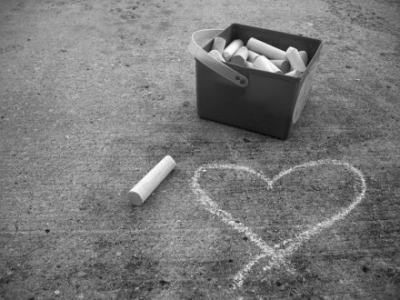 sidewalk heart